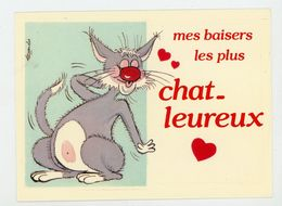 CPM:  ALEXANDRE - MES BAISERS LES PLUS CHAT-LEUREUX - - Alexandre
