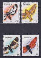 JAMAICA 1990, Mi# 736-739, Butterflies, MNH - Jamaica (1962-...)