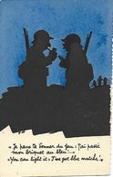 ILLUSTRATEUR. DAIX - SUR LE FRONT - (VISA CENSURE) - Carte à Système ? GRATTOIR ? - .JE PEUX TE DONNER DU FEU ..RARE ! - Guerre 1939-45