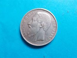Leopold II 5  Fr En Argent  1868  RRR - 09. 5 Francos