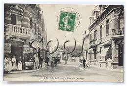 Le Touquet-Paris- Plage - Carte Animée - Rue De Londres - Edit. Tinchant & Styrn, Rue St-Jean - Le Touquet