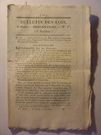 BULLETIN DE LOIS Du 12 MARS 1832 - PENSIONS MARINE MILITAIRE - BOIS ET FORETS PONTOUX OBTREE ARSAGNE CHAMBAIN SENTHEIM - Wetten & Decreten