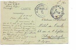 LE 0889. CP (FECAMP) En F.M. P.M.B. 4 - 9.XI.18 (2 JOURS AVANT ARMISTICE)-Arr. BLANKENBERGHE 12.XI.18 (1 JOUR APRES) - Weltkrieg 1914-18