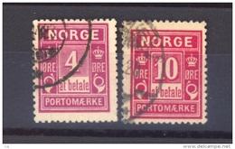 02623  -   Norvège  -  Taxes  :   Mi  2-3 I  (o)    20 Mm - Port Dû (Taxe)