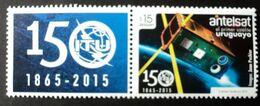 Uruguay 2015 Mnh - Satellite Satelite Antelsat  With Label - UIT ITU Telecommunicatons Space - Yvert 2725 - Uruguay