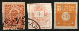 Hungary Croatia SHS Newspaper Stamp - Unperforated - Used / Used / Not Used - Newspapers