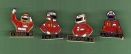 SPORT AUTO F1 *** 4 CHAMPIONS A.SENNA-J.ALESI-G.BERGER-A.PROST *** 1032 - Automobilismo - F1