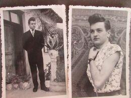 YOUNG BOY TRANSVESTITE, ORIGINAL PHOTOS FROM 1954/1955  JEUNE GARÇON TRANSVESTITE - Persone Anonimi