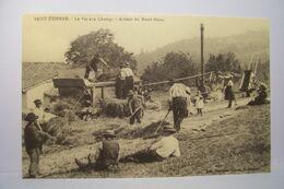 SAINT-ETIENNE   - La Vie Aux Champs - Autour Du Rond-Point - AGRICULTURE - MOISSONNEUSE  - REEDITION - Saint Etienne