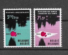 België 1970 Y&T Nr° 1539/40 (**) - Unused Stamps
