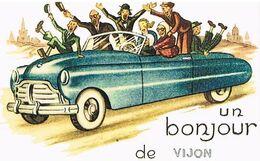 36  UN BONJOUR  DE VIJON  CPM  TBE  389 - Andere Gemeenten