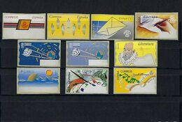 ESPAÑA. 10 Etiquetas Postales ( Atms ) Limpias Y Nuevas. - Machine Stamps (ATM)