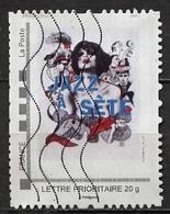 France - Frankreich Timbre Personnalisé 2008 Type ID13-07 (o) - Lettre Prioritaire 20g - Jazz à Sète - France