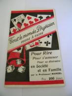 Fascicule - Tout Le Monde Physicien - Pour Rire & S'Amuser -Distraire En Société - Professeur Marcel - 1920 - SUP (vp 1) - Autres