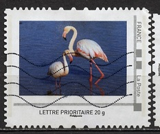France - Frankreich Timbre Personnalisé 2008 Type ID07-22 (o) - Lettre Prioritaire 20g - Flamands Roses - Personalizzati (MonTimbraMoi)