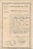 Certificat De Bonne Conduite 5 Bataillon De Chasseurs à Pied.Remiremont - Books, Magazines  & Catalogs