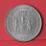 AZORES 25 ESCUDOS 1980 -    KM# 43 - (Nº36938) - Azores