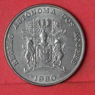 AZORES 100 ESCUDOS 1980 -    KM# 44 - (Nº36939) - Azores