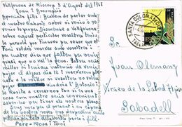 37114. Postal VALLFOGONA De RIUCORB (Tarreagona) 1965. Fechador De SANTA COLOMA De QUERALT - 1931-Heute: 2. Rep. - ... Juan Carlos I