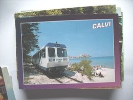 Trein Train Zug Calvi Corsica Italia TR - Eisenbahnen