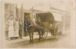Carte-Photo - Portrait Attelage - Cheval - Livraison Commerces (Ca 1910) (BP) - Photos