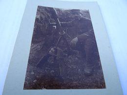 Photo Avril 1915 BOIS DES CHEVALIERS (VAUX-LES-PALAMEIX) - Canon De 58 Et Obus à Ailettes (torpille) (A198, Ww1) - 1914-18