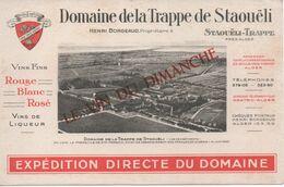 BUVARD VINS Domaine De La Trappe De Staouëli-Trappe Près D'Alger-Henri Borgeaud Propriétaire - Lebensmittel