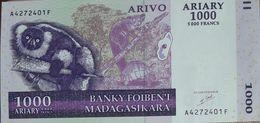 1000 Ariary Série A Billet De Madagascar Neuf - Madagascar