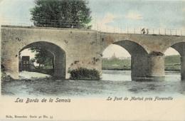 Le Pont De Martué Près Florenville Bords De La Meuse Nels Série 40 N° 33 Colorée - Florenville