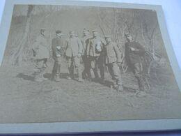 Photo Février 1915 BOIS DES CHEVALIERS (VAUX-LES-PALAMEIX) - Prisonniers Allemand Avant Interrogatoire (A198, Ww1, Wk 1) - Krieg, Militär