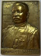 Médaille Bronze. Victor Delbrassinne. 1844-1916. Président Du Tribunal De Commerce 1912-1916. Ch. Samuel - Professionnels / De Société