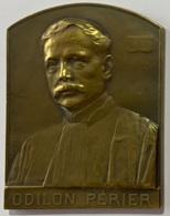 Médaille Bronze. Odilon Perier. Avocat Avoué - Juge. Officier De L'Ordre De Léopold. 1843-1918. J. Witterwulghe - Professionnels / De Société