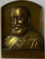Médaille Bronze. Myrtil Schleissinger. 1848-1911. Tribunal De Commerce De Bruxelles. A Son Président. Ch. Samuel - Professionnels / De Société
