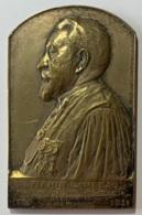 Médaille Bronze. Firmin Lambeau. Hommage Du Tribunal De Commerce De Bruxelles à Son Président. 1900-1931. G. Devreese. - Professionnels / De Société