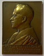 Médaille Bronze. Charles De Visscher. Juge à La Cour Permanente De Justice Internationale. Mai 1937. A. Bonnetain - Professionnels / De Société