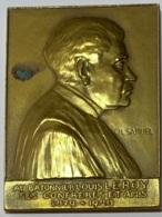 Médaille Bronze. Au Batonnier Louis Leroy. Ses  Confrères Et Amis 1879-1929. Ch. Samuel - Professionnels / De Société