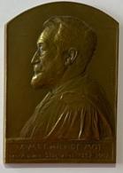 Médaille Bronze. A Emile De Mot. Ses Anciens Stagiaires. 1857-1907. G. Devreese. - Professionnels / De Société