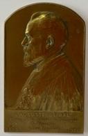 Médaille Bronze. A Auguste De Bal. Hommage Du Tribunal De Commerce De Bruxelles à Son Président. 1899-1926. G. Devreese. - Professionnels / De Société