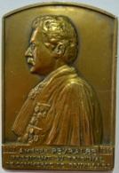 Médaille Bronze. Amedée Peyralbe. Président Du Tribunal De Commerce De Bruxelles. 1907-1936. Jul Coessens - Professionnels / De Société