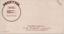 BUVARD PROXYTOL -J.B. FIALIP 21 Rue D'Aumale PARIS 9e Pharmacie - Drogerie & Apotheke