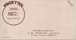 BUVARD PROXYTOL -J.B. FIALIP 21 Rue D'Aumale PARIS 9e Pharmacie - Drogheria