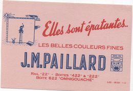 BUVARD  J.M. PAILLARD - Elles Sont épatantes Les Belles Couleurs Fines... - Farben & Lacke