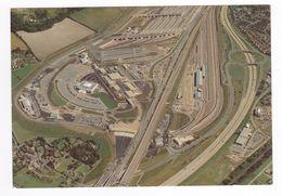 TRAIN Eurotunnel 1994 Le Schuttle Tunnel Sous La Manche Vue Aérienne Terminal Britannique à Cheriton Près De Folkestone - Structures