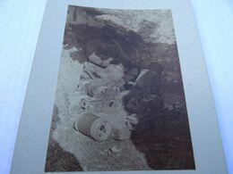 Photo Avril 1915 BOIS DES CHEVALIERS (VAUX-LES-PALAMEIX) - Mortier De Tranchée, Crapouillot Chargé (A198, Ww1) - 1914-18