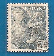 1940/1949 SPAGNA Generale Franco - 50 Cts  Usato - 1931-Aujourd'hui: II. République - ....Juan Carlos I