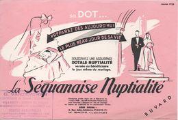 BUVARD  Assurance LA SEQUANAISE NUPTIALITE-G. Vanzeveren-Rocheville-le-cannet 06 - Banca & Assicurazione