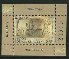"""MONTENEGRO / CRNA GORA - EUROPA 2020 - """"ANTIGUAS RUTAS POSTALES - ANCIENT POSTAL ROUTES"""" - HOJITA BLOQUE - Europa-CEPT"""