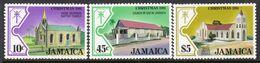 Jamaica 1981 Christmas Churches II Set Of 3, MNH, SG 537/9 (WI2) - Jamaïque (...-1961)