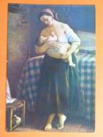 CPSM Inédite 1959 écrite - CLETOFONTE PRETI Petite Enfante à La Mamelle - Femme Qui Allaite Bébé Donne Le Sein - Paintings
