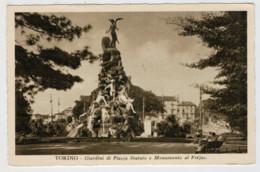 C.P.  PICCOLA   TORINO   GIARDINI  DI  PIAZZA  STATUTO  E MONUMENTO  AL  FREJUS 2  SCAN  (NUOVA) - Places & Squares